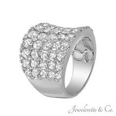 "Diamond Pave ""A Bed of Diamonds"" Fine Jewelry Fashion Band."