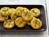 Picture of Grilled Chickpea Polenta Cakes with Chive Oil and Lemon Recipe