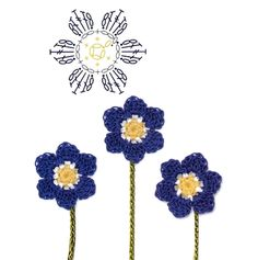 No.32 Hepatica Crochet Flower Motifs / 노루귀 코바늘 플라워 모티브도안