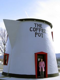 "The Bedford Coffee Pot is an example of the quirky and colorful roadside eating establishments that sprouted up along the Lincoln Highway back in the days of ""motoring"" and long before the Interstate Highway System and corporate America made every exit seem the same."
