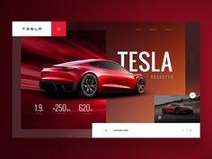 Tesla - Website Concept by Netflayo Web Layout, Layout Design, App Design, Design Ideas, Design Lab, Design Concepts, Sketch Design, Tesla Roadster, Graphic Design Brochure