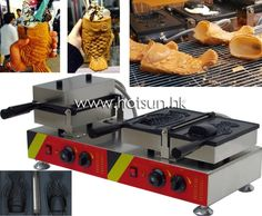 438.00$  Watch now - http://aliwvh.worldwells.pw/go.php?t=32749876713 - Commercial Use Non-stick 110v 220v Electric Dual Ice Cream Taiyaki Iron Maker Machine Baker 438.00$