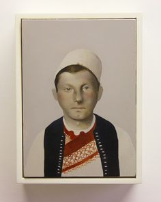 Sarah Ball, Immigrant series Albanian Soldier, 2015, Conduit Gallery