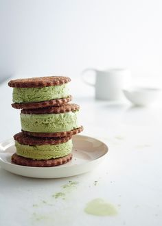 Matcha Ice Cream Sandwiches