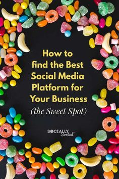 How to Find The Best Social Media Platform For Your Business (the Sweet Spot) #socialmedia #socialmediamarketing #bloggingtips #instagramtips #facebookmarketing #facebooktips #pinterestmarketing #pinteresttips