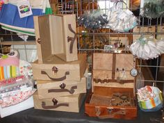 wooden boxes /suitcases
