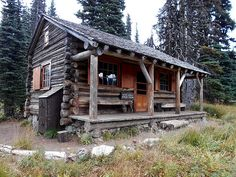 Rural log home.