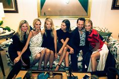 Kristina O'Neill, Lauren Santo Domingo, Kelly Sawyer Patricof, Dasha Zhukova, Derek Blasberg, and Karlie Kloss