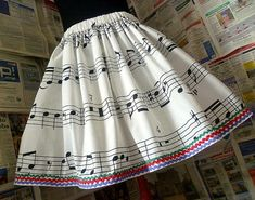Love this except for the lines on the bottom. Musical Dress Music Notes Dress Musical Skirt MUsic by Roobys, Pretty Outfits, Cool Outfits, Music Dress, Looks Kawaii, Punk Fashion, Womens Fashion, Lolita, Music Notes, Skirt Outfits