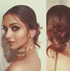 ideas for wedding hairstyles updo indian deepika padukone Deepika Hairstyles, Sleek Hairstyles, Indian Hairstyles, Wedding Hairstyles, Make Up Looks, Celebrity Makeup, Celebrity Style, Deepika Padukone Makeup, Bollywood Makeup