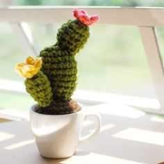 Window Crochet Cactus Free Pattern - Paper and Landscapes