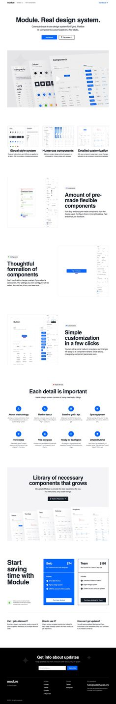 Appreciate the size and clarity of the explainer video kicking off this Landing Page for Module UI Kit for Figma.