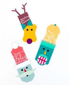 DIY Free Printable Pop - Up Gift Tags
