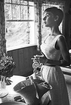vintagegal: Audrey Hepburn at her home in Bürgenstock, Switzerland, 1950s