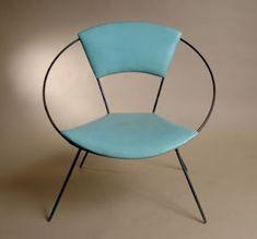 The Circle Chair by Joseph Cicchelli, aka Hoop Chair Mid Century House, Mid Century Style, Mid Century Modern Design, Mid Century Modern Furniture, Mcm Furniture, Vintage Furniture, Furniture Design, Danish Modern, Mid-century Modern