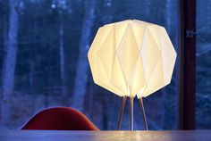 Lampo: The instant design classic.  Pre order on Kickstarter: http://kck.st/1UK0ecp --------------------------------- #lamp #origami  #lampo #mylampo #midcenturymodern