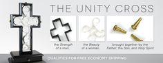 The Unity Cross!  Great idea for weddings, instead of the unity candle or sand.