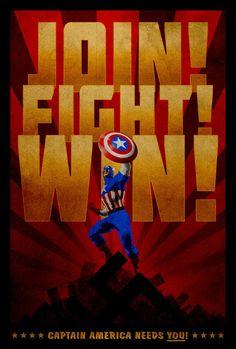 Captain America poster by ~drMIERZWIAK