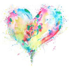 abstract watercolor heart~