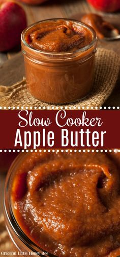 It's so easy to make apple butter in your slow cooker overnight and it will make your house smell amazing! Find the recipe at gracefullittlehoneybee.com #apple #slowcooker #fall Jam Recipes, Canning Recipes, Fruit Recipes, Apple Recipes, Crockpot Recipes, Dessert Recipes, Slow Cooker Recipes Dessert, Recipies, Skillet Recipes