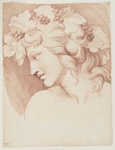 INV 24229, Inventaire du département des Arts graphiques - Tête de Bacchus - BOUCHARDON Edme
