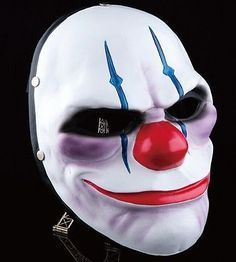 Payday 2 The Heist Joker Clown Mask Costume Props Halloween Mask Collection Joker Clown, Clown Mask, Eye Masks, Masquerade Dresses, Masquerade Party, Halloween Men, Halloween Party, Halloween Cosplay, Payday 2 Chains