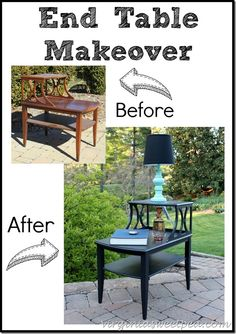 This end table got a makeover with Velvet Finishes paint in Luxurious. virginiasweetpea.com