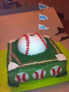 Baseball Themed Birthday Cake on Cake Central Baseball Theme Birthday, Themed Birthday Cakes, 9th Birthday, Themed Cakes, First Birthday Parties, First Birthdays, Baseball Party, Birthday Ideas, Kid Parties
