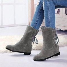 5a1763d53a48a Women Snow Back Lace Up Boots Casual Shoes