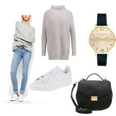 OneOutfitPerDay 2016-03-08 - #ootd #outfit #fashion #oneoutfitperday #fashionblogger #fashionbloggerde #frauenoutfit #herbstoutfit - Frauen Outfit Frühlings Outfit Outfit des Tages Adidas Originals Cheap Monday Jeans mint&berry New Look Olivia Burton Röhrenjeans Sneaker Strickpullover Tasche Uhr Umhängetasche