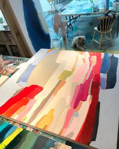 Official website for Canadian abstract artist Claire Desjardins from Montreal, Canada, paints dynamic color filled paintings. Besides painting she also works in steel sculpture. Painting Inspiration, Art Inspo, Canadian Artists, Art Plastique, Art Auction, American Art, Art Drawings, Canvas Art, Art Paintings