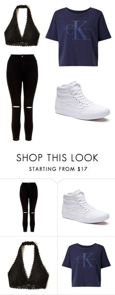 """Untitled #11"" by angelworthyy ❤ liked on Polyvore featuring New Look, Vans, Hollister Co. and Calvin Klein"
