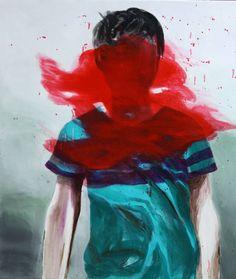 "Saatchi Art Artist Hanna Ilczyszyn; Painting, ""Red (exhibition)"" #art"