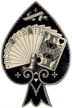 Spade Card DieCut; Sheaff ephemera.com
