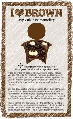 Do you ♥ brown? Read more about what your favorite color brown could say about your personality. #color #paint color psychology