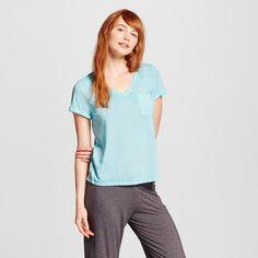 Women's Burnout Tee - Xhilaration - Sheer Turquoise L