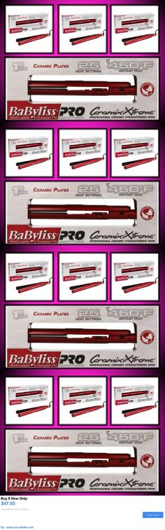 Hair Beauty: New! Babyliss Pro 1 Ceramix Xtreme 450° Hair Straightener Flat Iron Red Ceramic BUY IT NOW ONLY: $47.65 #priceabateHairBeauty OR #priceabate