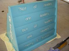 My book shelf redo! :)