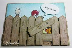 #stampinup #heychick #saleabration2017 #stampinupdemo #stampinupdemonstrator #dasgelbevomei #selfmadecards #crafting #handmadecards #fence #Hühner #Hühnerkarte #kartenbasteln #selbstgemachtekarten #basteln