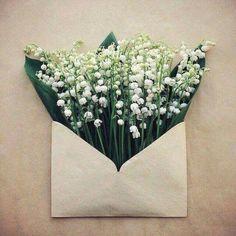 Bloemen envelop ✉