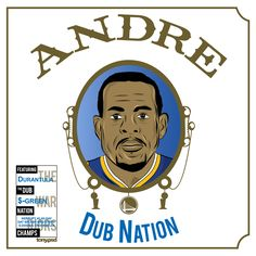 """""""Andre"""" cover art  inspired by Dr. Dre's classic album  """"The Chronic"""" featuring the Warriors Andre Igoudala. Vector artwork by Tony.psd"""