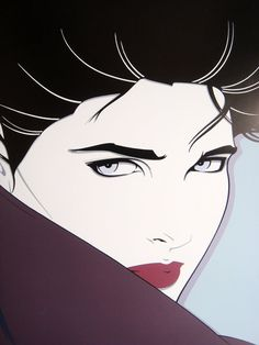 I have always loved Patrick Nagel's portrayal of strong, beautiful women.
