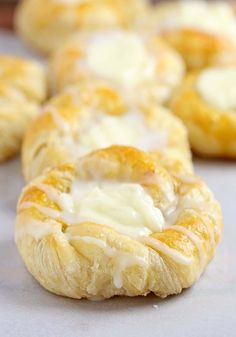 This quick and easy cream cheese danish starts with store-bought crescent roll dough, and can be made, start to finish in under 30 minutes.