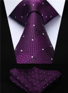 Shop Check Jacquard Woven Men's Wedding Silk Tie Pocket Square Necktie Set - Purple - Find the newest styles of Men's Neckties with Affordable Prices. Mens Ties Crafts, Fashion Pattern, Tie And Pocket Square, Pocket Squares, Tie Pattern, Wooden Bow Tie, Wool Tie, Wedding Ties, Party Wedding