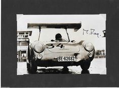 MICHAEL MAY Porsche 550RS 550 AERO WING AUTOGRAPHED 1956 Nürburgring Photograph | eBay