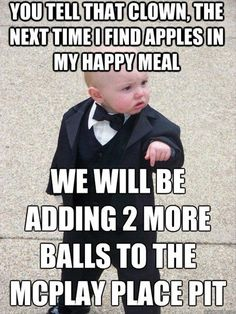 You tell me Oranges are healthy? Don Corleone says otherwise Baby Godfather Funny Baby Memes, Funny Babies, Funny Kids, Funny Quotes, Baby Jokes, Fun Jokes, Funny Phrases, True Quotes, Kentucky Derby