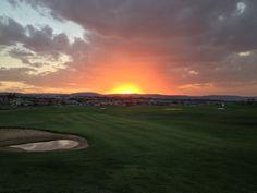 Sunset on the driving range - Eagle Canyon Golf Estate, Johannesburg, South Africa Famous Golf Courses, Public Golf Courses, Coeur D Alene Resort, Augusta Golf, Golf Estate, Golf Course Reviews, Coeur D'alene, International Airport, Beautiful Sunset