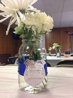 Police academy graduation mason jars