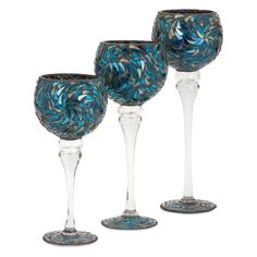 IMAX Peacock Votive Holders - Set of 3 - 80026-3