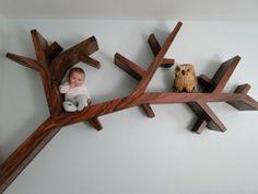 étagère murale design, un arbre mural en bois